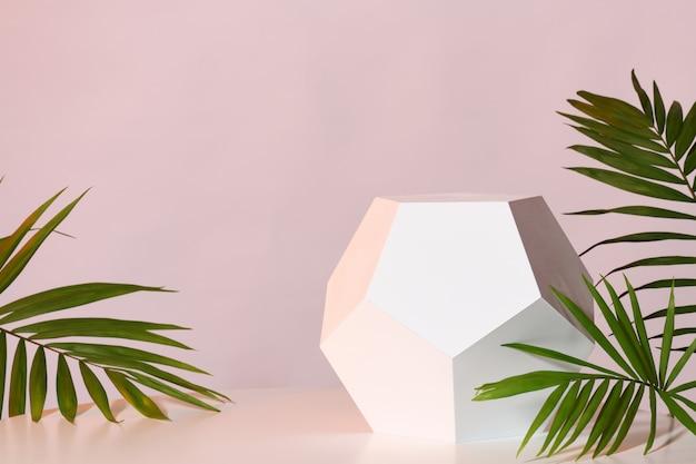 Maquete com suporte geométrico Foto Premium