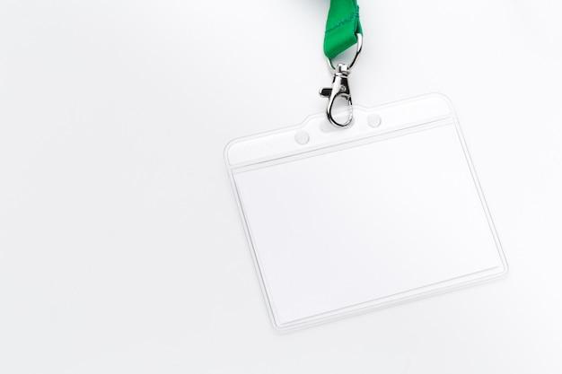 Maquete de bagde em branco Foto Premium