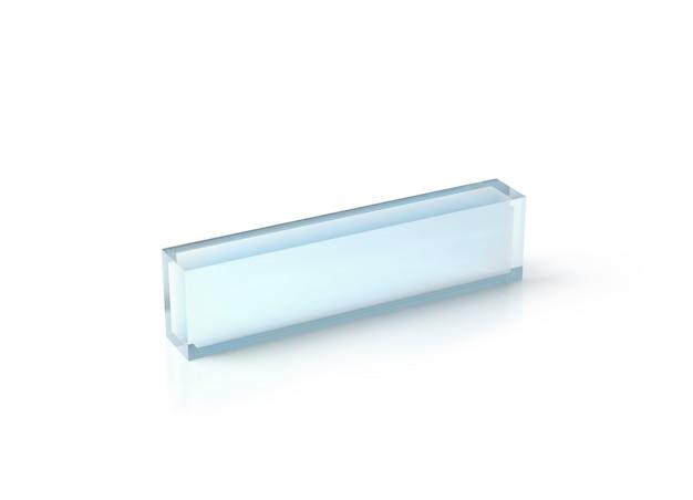 Maquete de bloco de mesa de acrílico transparente em branco, Foto Premium