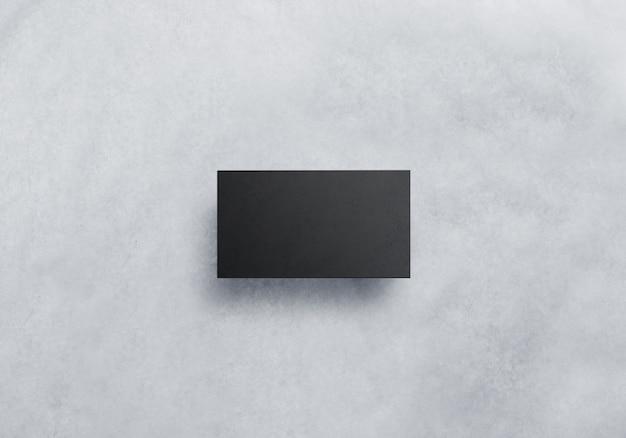 Maquete de cartão de visita preto em branco Foto Premium