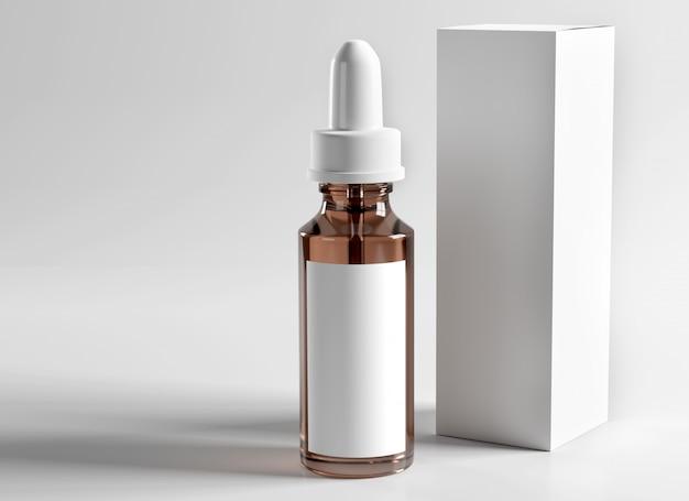 Maquete de embalagem farmacêutica - renderização em 3d Foto Premium