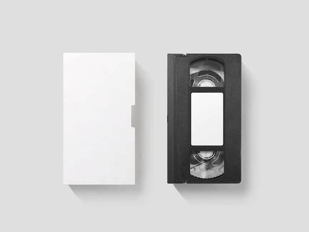 Maquete de fita cassete de vídeo em branco Foto Premium
