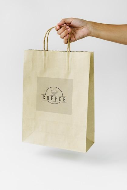 Maquete de marca de saco de papel natural Foto Premium