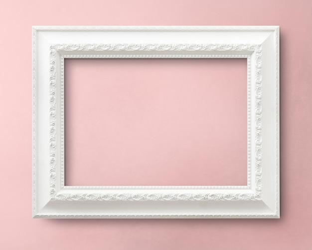 Maquete de moldura branca Foto Premium