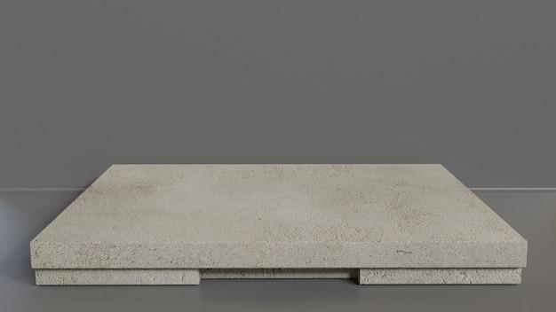 Maquete de pedra de renderização modelo 3d ou vitrine de produto moderno Foto Premium