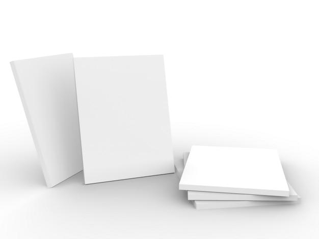 Maquete de revista em fundo branco Foto Premium