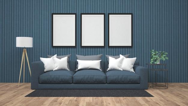 Maquete do cartaz de exibição na renderização 3d de muro de concreto Foto Premium