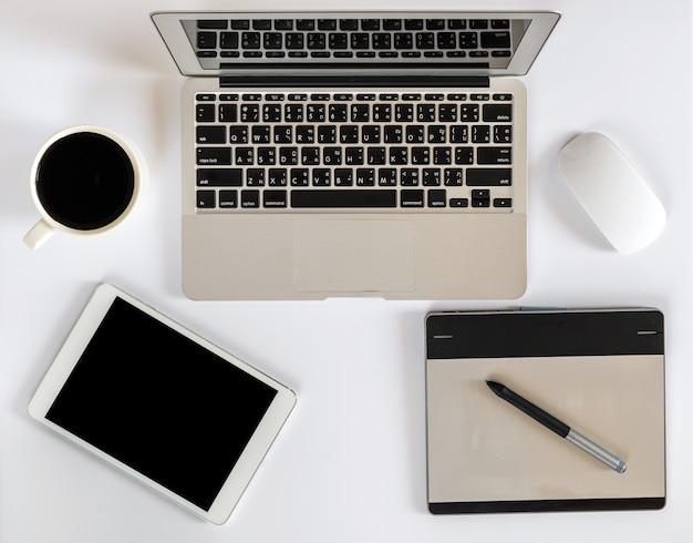 Maquete do escritório de vista superior Foto Premium