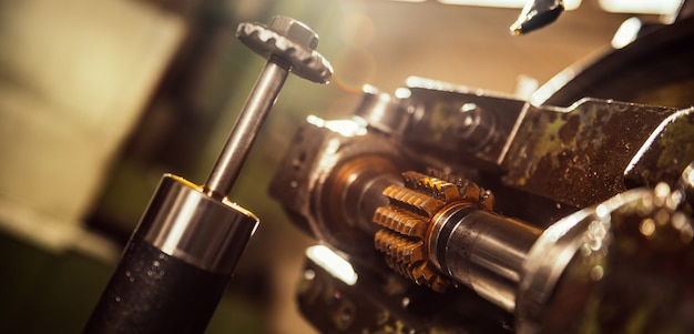 Máquina de corte de engrenagem Foto Premium
