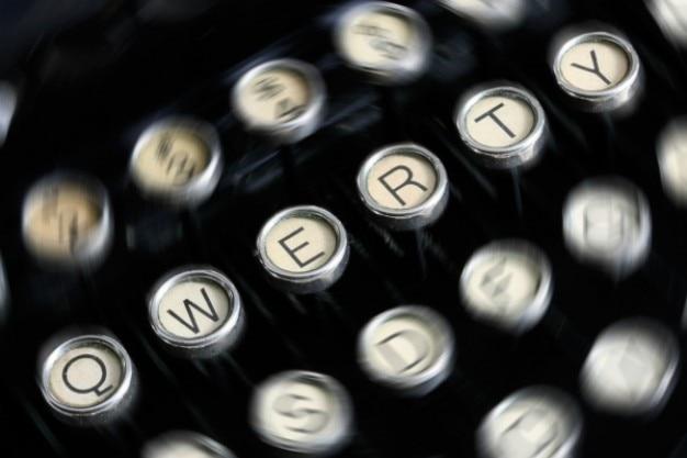 Máquina de escrever antiga fechar-se Foto gratuita