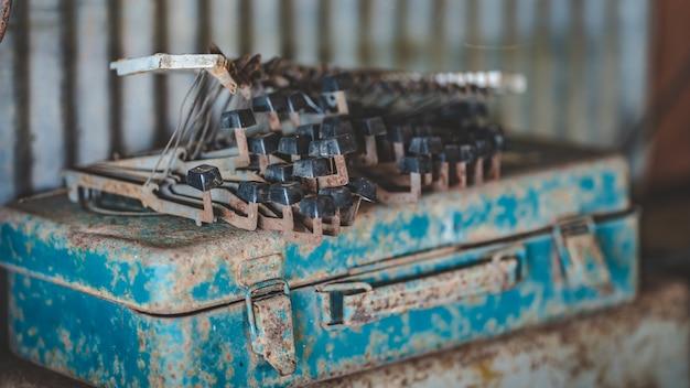 Máquina de escrever do teclado da oxidação Foto Premium