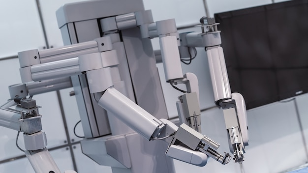 Máquina de robótica industrial Foto Premium