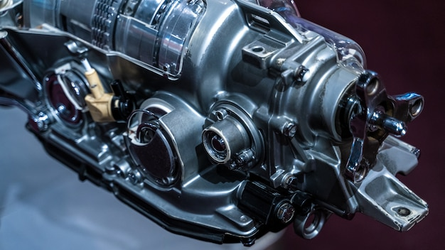 Máquina do motor marinho Foto Premium
