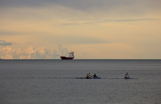 Mar de remo Foto Premium
