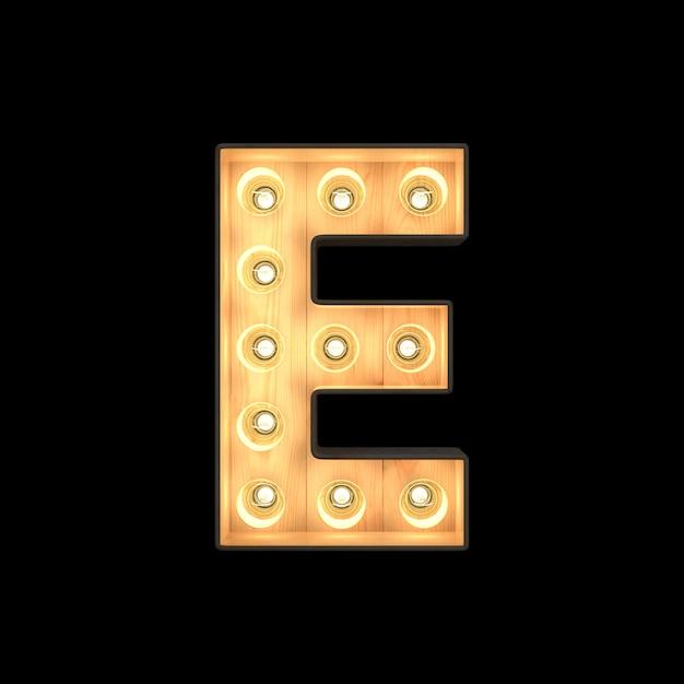 Marquee light alfabeto e Foto Premium