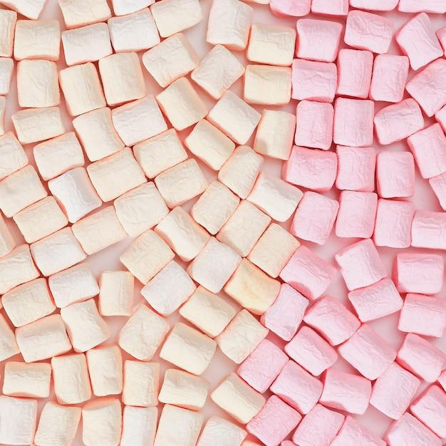 Marshmallow rosa e amarelo Foto Premium