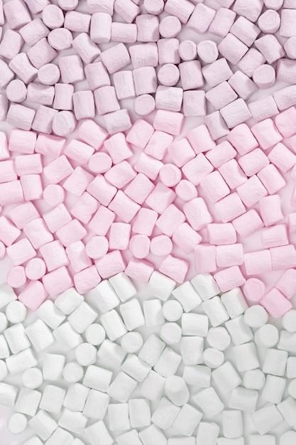 Marshmallows rosa, brancos e verdes Foto Premium