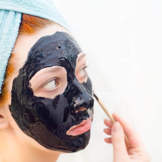 Máscara preta cosmética Foto Premium