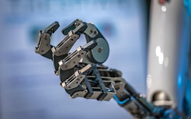 Mecanismo robótico de mão Foto Premium