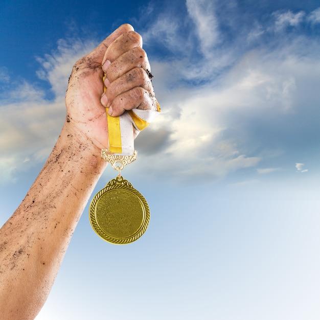 Medalha de ouro Foto Premium