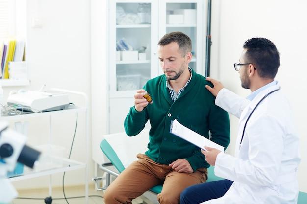 Medicação para paciente Foto gratuita