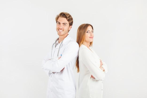 Médicos sorridentes Foto Premium