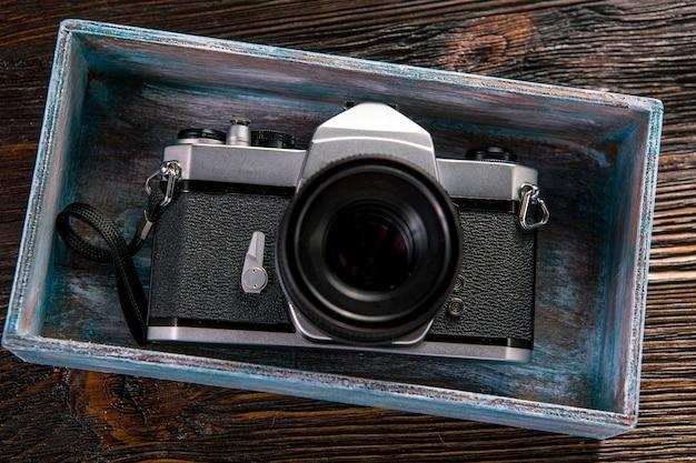 Medidor de exposição e câmera retro Foto Premium
