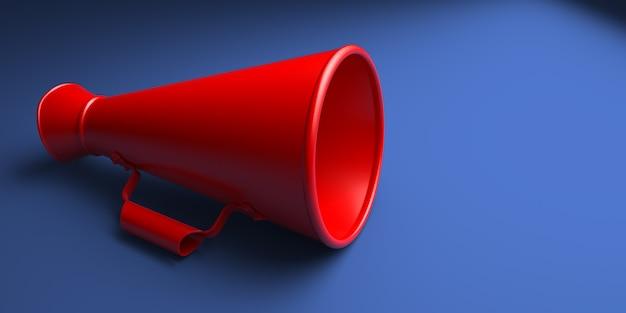 Megafone vermelho antigo ou megafone isolado Foto Premium