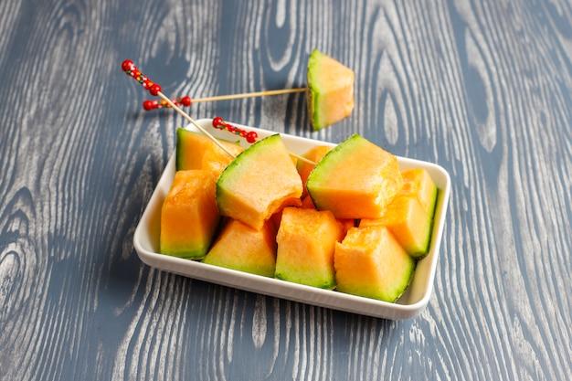 Melão melão orgânico fresco. Foto gratuita