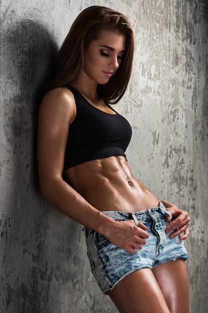 Menina bonita fitness Foto Premium