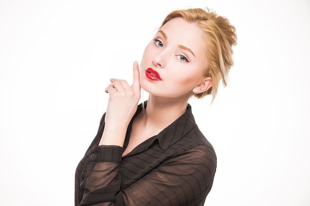Menina com maquiagem Foto Premium