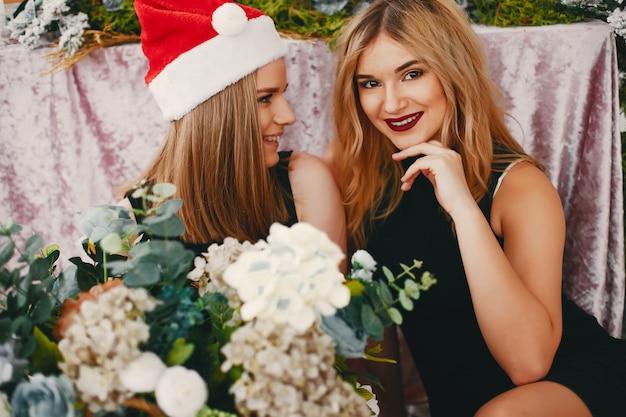 Meninas do natal da beleza Foto gratuita