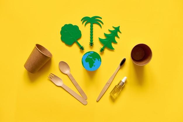 Menos desperdício ecológico e plano. Foto Premium