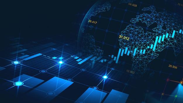 Mercado de ações ou forex trading gráfico no conceito gráfico Foto Premium