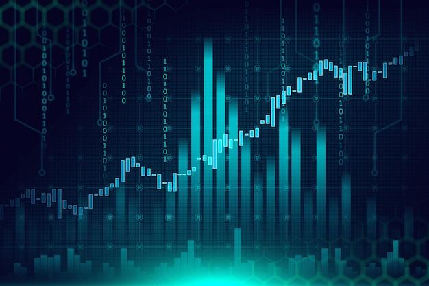 Mercado de ações ou gráfico de negociação forex no conceito gráfico Foto Premium