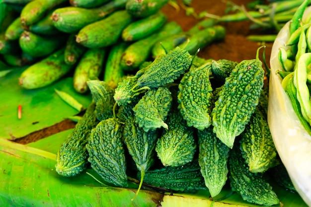 Mercado de legumes indianos, comida vegitable Foto Premium