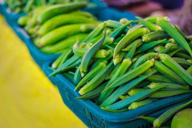 Mercado indiano de legumes Foto Premium