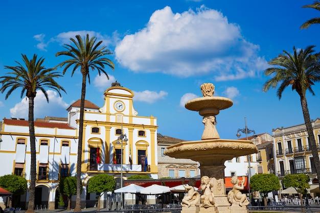 Merida na espanha plaza de espana square badajoz Foto Premium
