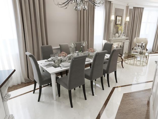 Mesa de jantar Foto Premium