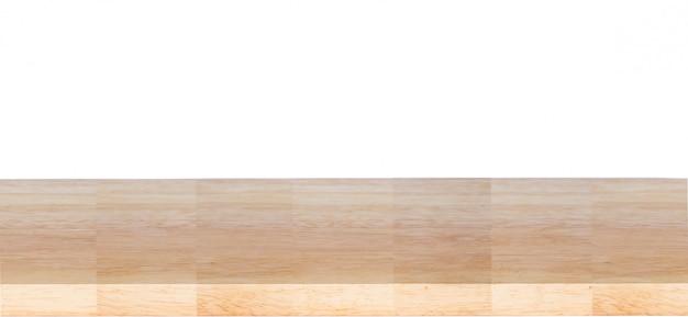 Mesa de madeira isolada no fundo branco Foto Premium
