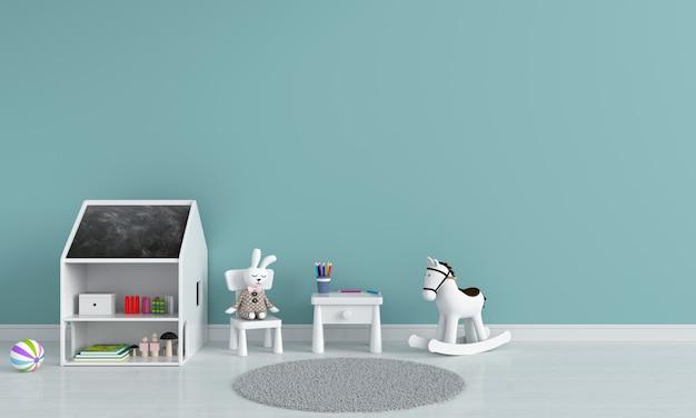 Mesa e cadeira no quarto de criança Foto Premium