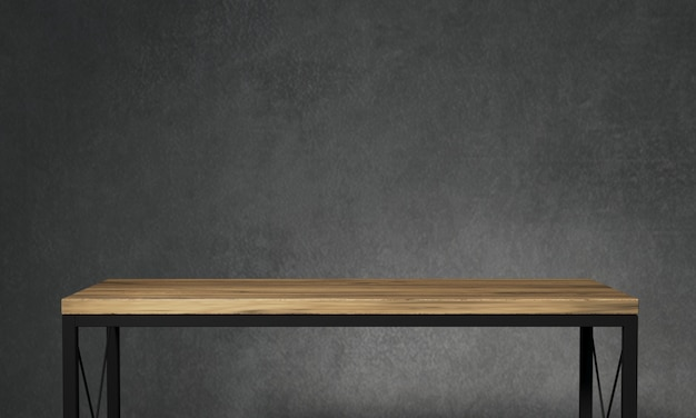 Mesa para decoração de loft Foto Premium
