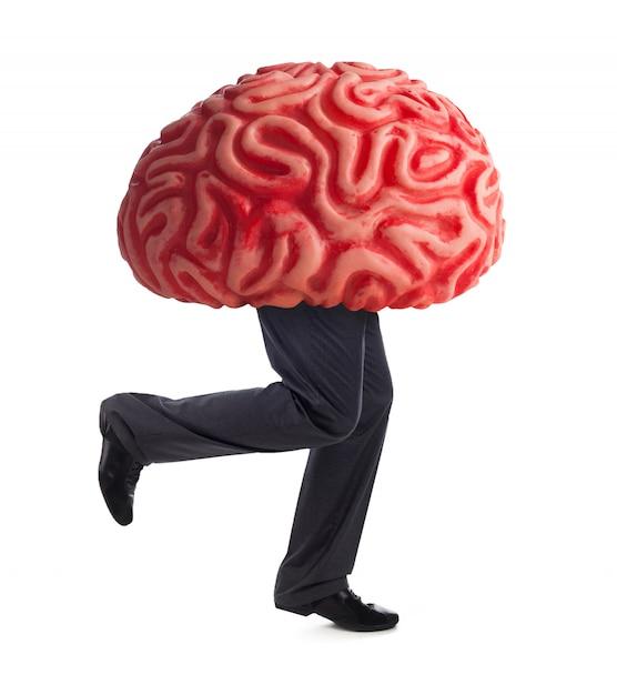 Metáfora da fuga de cérebros Foto Premium