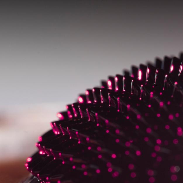Metal ferromagnético de close-up com fundo desfocado Foto gratuita