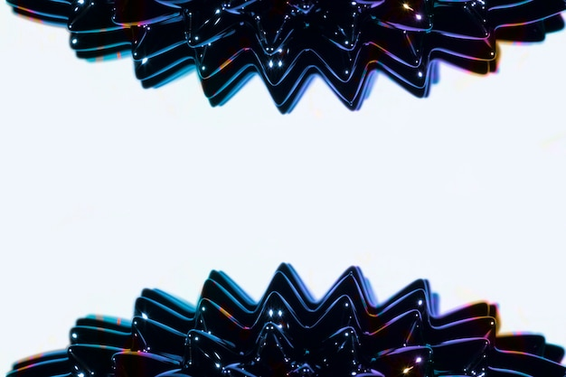 Metal líquido ferromagnético lateral com espaço da cópia Foto gratuita