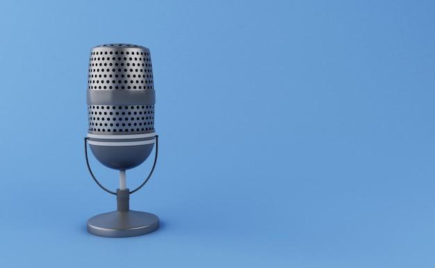 Microfone do vintage 3d Foto Premium