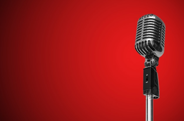 Microfone vintage Foto Premium