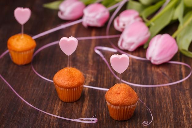 Mini bolinho feriado dia dos namorados Foto Premium