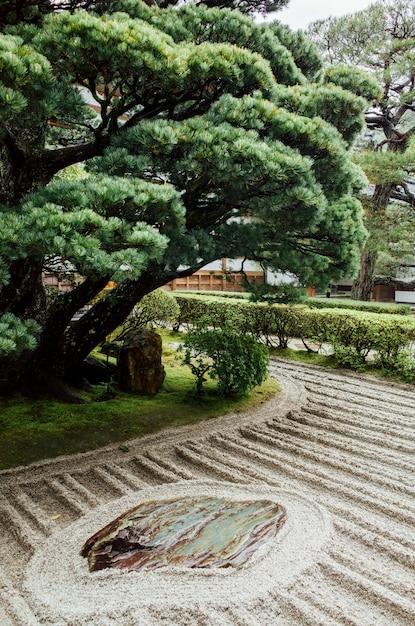 Mínimo de árvores e jardim japão Foto gratuita