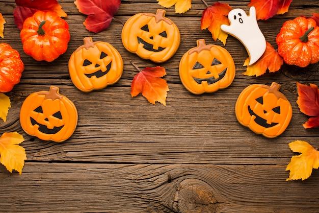 Mistura de adesivos de festa de halloween Foto gratuita